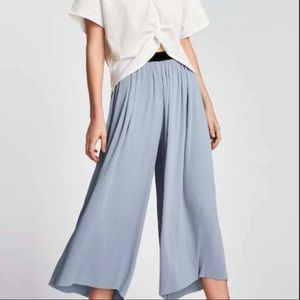 🆕Zara Pleated Wide Leg Cropped Pants